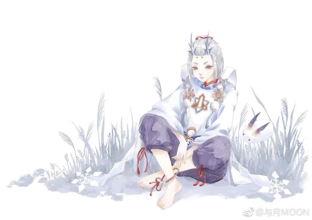 阴阳师雪童子手绘同人图壁纸