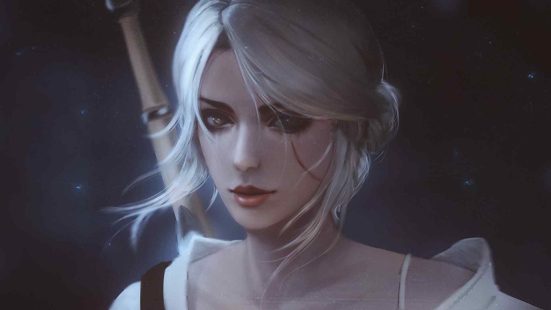 巫师3游戏壁纸希里壁纸白狼女儿壁纸游戏美女壁纸