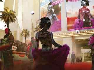 賽博朋克2077高清紅毯明星桌面壁紙