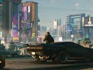 賽博朋克2077高清超現代都市桌面壁紙