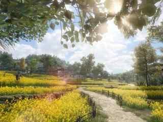 逆(ni)水寒鄉(xiang)間小路唯美風光游戲圖片