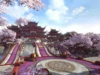 逆水寒唯美風景比武台高清游戲圖片