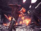 怪物獵人世界炎王龍滅盡龍斗毆精美截圖壁紙
