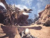 怪物猎人世界愤怒的雌火龙与偷蛋贼精美截图壁纸