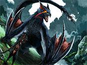 怪物猎人世界迅龙手绘风高清壁纸
