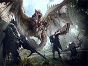 怪物獵人世界獵人大戰雄火龍高清壁紙