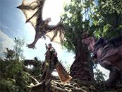 怪物獵人世界空中的雌火龍精美截圖壁紙