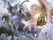 怪物猎人世界官方庆祝十周年贺图高清壁纸
