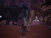 怪物猎人世界角龙和黑角龙的对决精美截图
