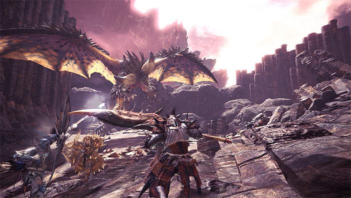 怪物猎人世界狩猎小队猎杀灭尽龙精美截图