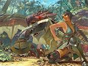 怪物獵人世界同人手繪游戲高清壁紙