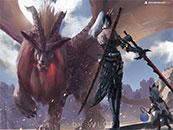 怪物獵人世界威武的炎王龍高清壁紙