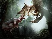 怪物獵人世界蠻顎龍雄火龍高清壁紙