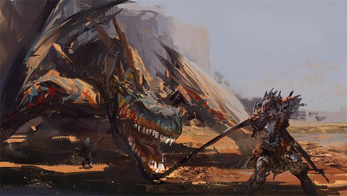 怪物猎人世界同人手绘高清壁纸