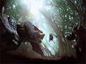 怪物獵人世界隨從貓大戰迅龍高清壁紙