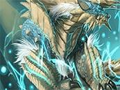 怪物猎人世界雷狼龙同人手绘动漫高清壁纸