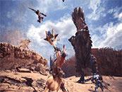 怪物獵人世界狩獵小隊獵殺土砂龍精美截圖壁紙
