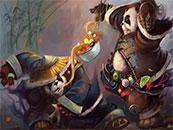 魔兽世界熊猫人之谜搞笑吃面高清壁纸