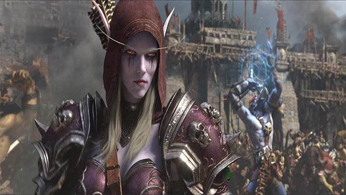 魔兽世界8.0争霸艾泽拉斯帅气希尔瓦娜斯高清壁纸图片