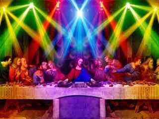 另类耶稣糜烂生活桌面壁纸