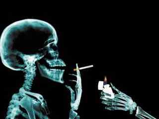 死也要抽烟另类壁纸