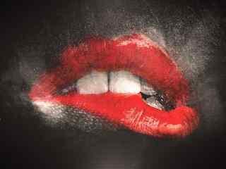 创意性感红唇图片桌面壁纸