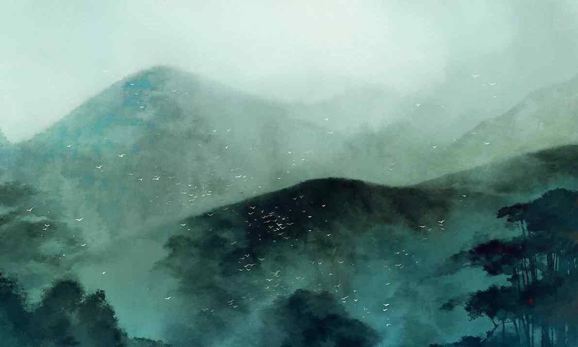 唯美古风山水风景桌面壁纸