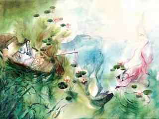 创意古风水墨画风景桌面壁纸