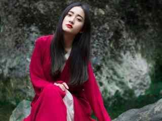 古风红衣美人唯美写真壁纸