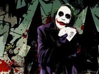 恐怖的蝙蝠侠小丑桌面壁纸