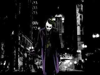 手绘蝙蝠侠小丑手机壁纸