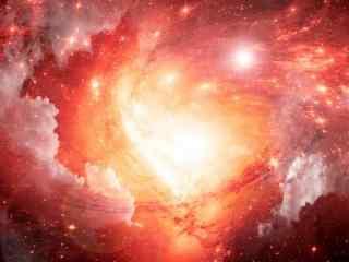 无垠的宇宙红色火焰桌面壁纸