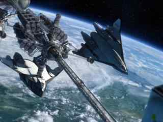酷炫科幻大片大战星球桌面壁纸