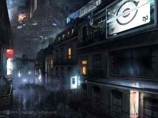 未知领域的科幻城市桌面壁纸