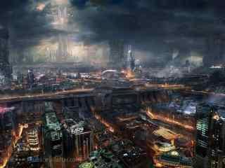 炫酷科技发达的城