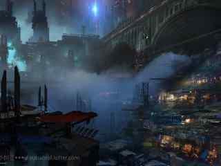 炫酷科幻城市高科