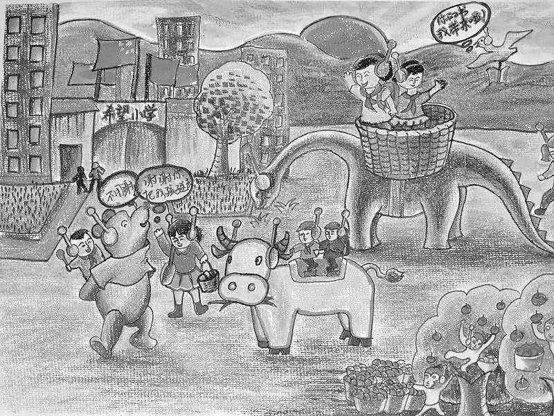 少儿科幻绘画作品创意十足_科幻壁纸