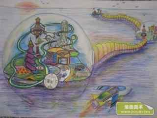 2015小学生科幻画作品6_科幻壁纸