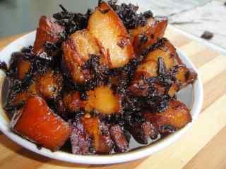 绍兴特色美食梅干菜烧肉桌面壁纸