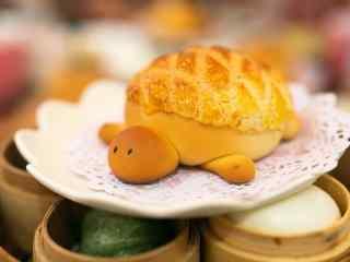 香港美食之可爱小乌龟面包美食壁纸