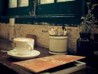 咖啡书本文艺清