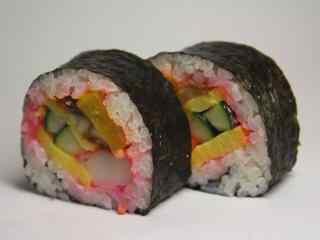 寿司蔬果蟹棒卷桌面壁纸