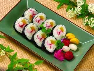 寿司乌贼卷桌面壁纸