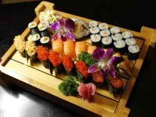 寿司海鲜寿司拼盘桌面壁纸