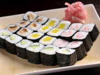 寿司单料大杂烩蔬果卷桌面壁纸