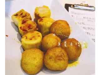 香港特色美食之咖喱鱼丸高清壁纸下载