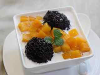 香港美食之诱人甜品杨枝甘露高清桌面壁纸