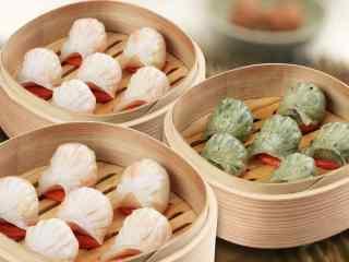 香港特色美食之水晶虾饺高清壁纸下载