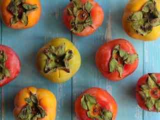 秋季养生之柿子桌面壁纸
