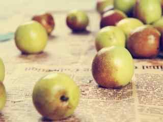 秋季养生之美味的冬枣桌面壁纸